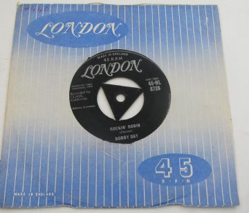 Bobby Day ROCKIN' ROBIN 1958 UK TRI-CENTRE ROCK & ROLL EX+ AUDIO